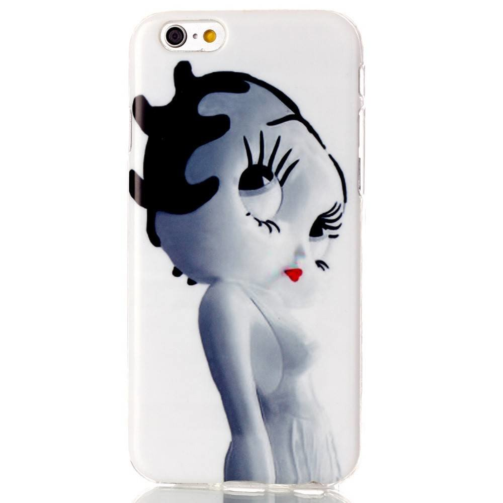Betty boob lookalike TPU hoesje iPhone 6 TPU hoesje