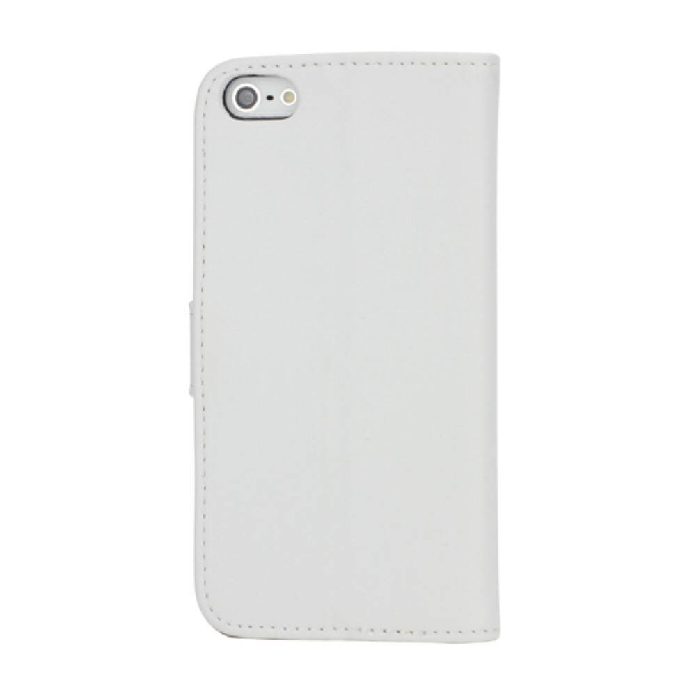 Witte iPhone SE/5/5S splitleren portemonnee hoes