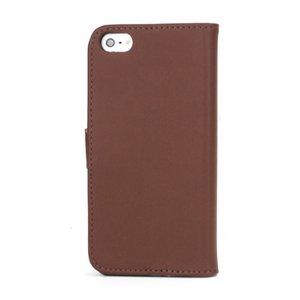 Bruine iPhone SE/5/5S splitleren portemonnee hoes