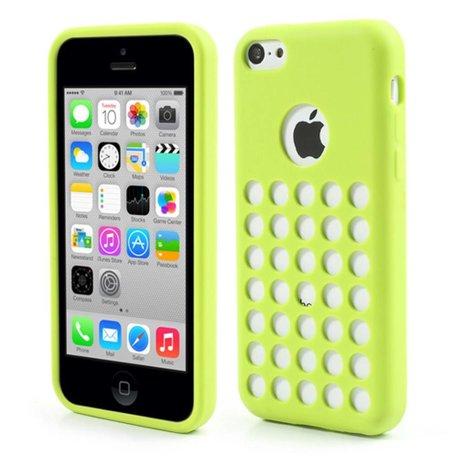 Groen geperforeerd TPU iPhone 5C hoesje