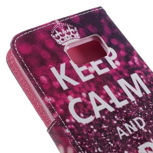 Samsung galaxy S7 portemonnee hoesje Keep calm and sparkle