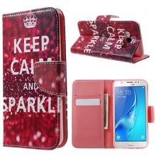 Samsung Galaxy J5 portemonnee hoes keep calm