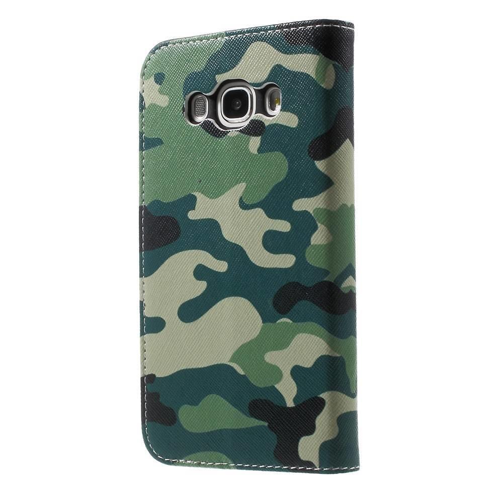 Samsung Galaxy J5 portemonnee hoes met camouflage print