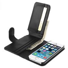 iPhone SE, 5, 5S portemonnee hoes zwart
