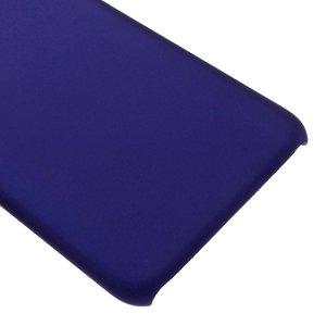 Blauwe hard met rubber bekleed iPhone 7 hoesje