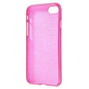 Flexibel glimmend geborsteld roze TPU hoesje voor de iPhone 7