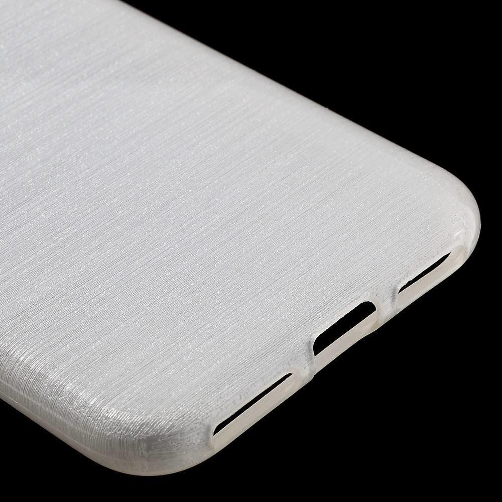 Flexibel glimmend geborsteld wit TPU hoesje voor de iPhone 7