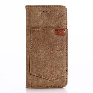Bruin iPhone 7 Portemonnee hoesje met broekzak