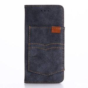 Blauw iPhone 7 Portemonnee hoesje met broekzak