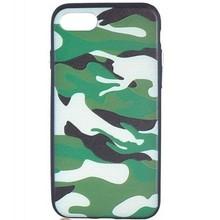 Siliconen Camouflage hoesje voor de iPhone 7 plus