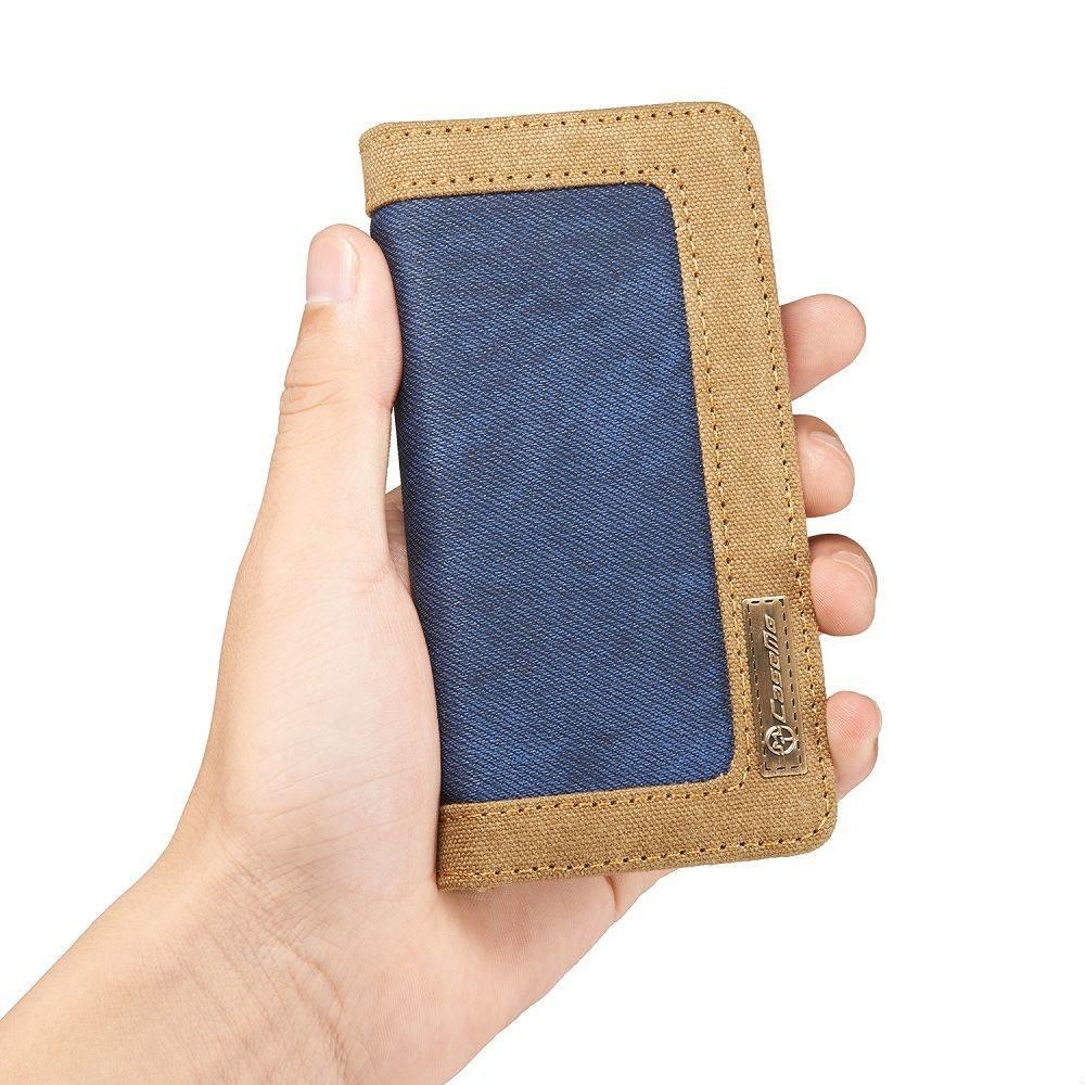 CaseMe iPhone 5, 5s, SE Portemonnee hoesje blauw