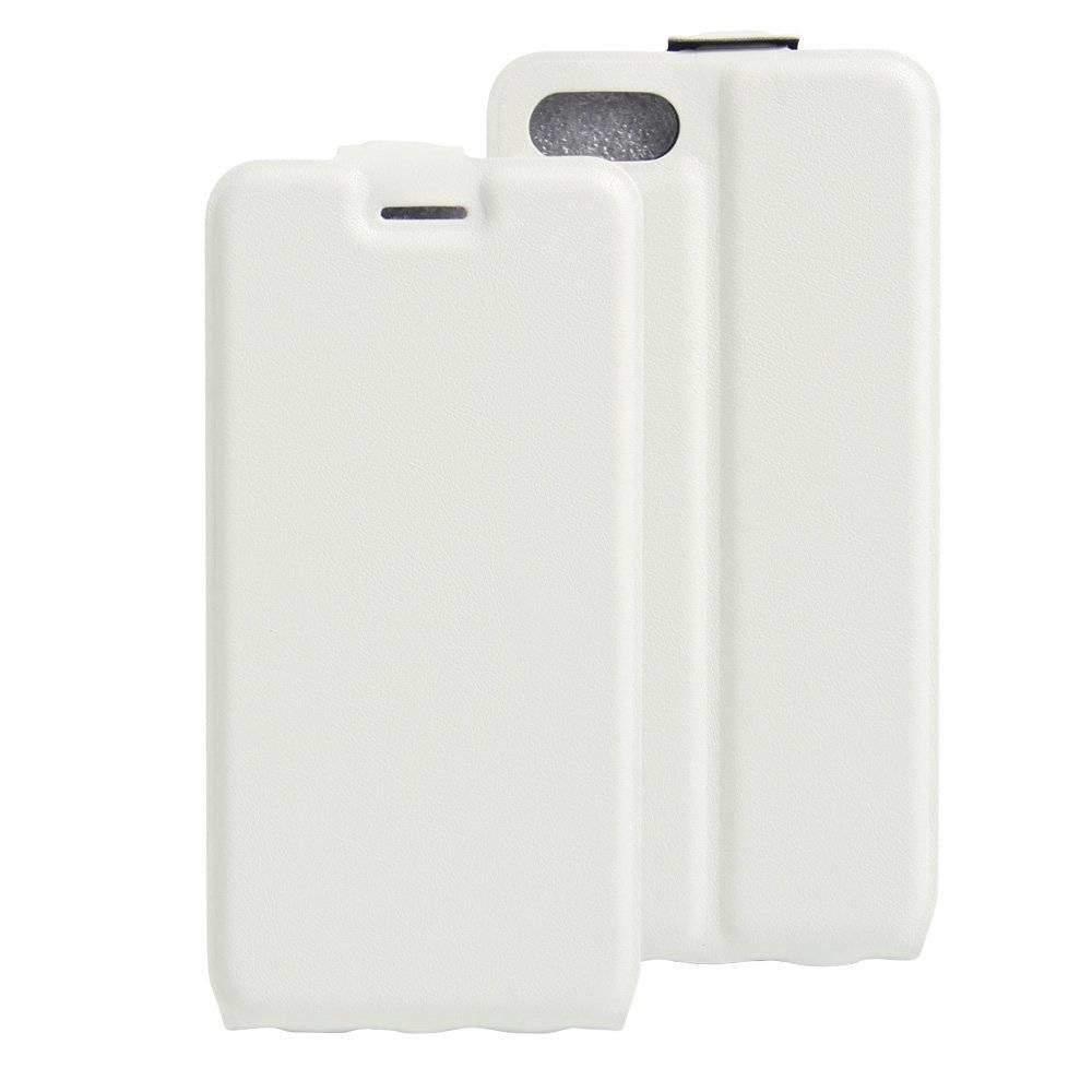 iPhone 7 Flip case Wit pu leer