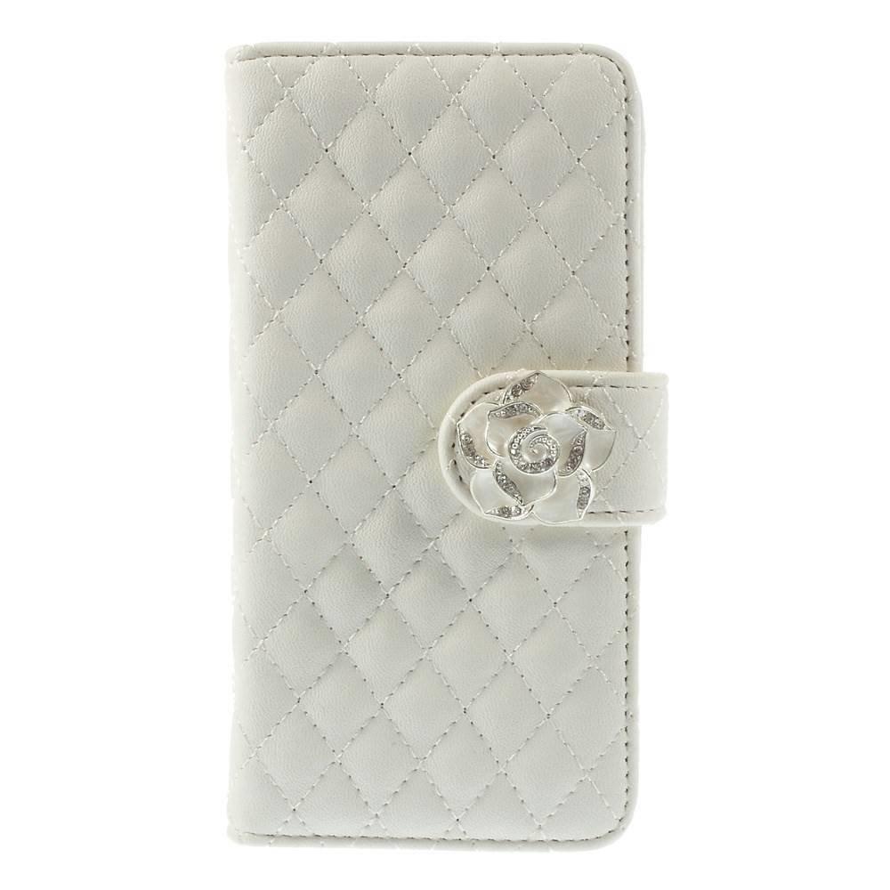 Geruit iPhone 6 portemonnee hoesje wit