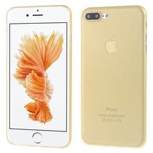 Ultradun Goudkleurig iPhone 7 plus TPu hoesje