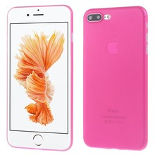 Ultradun roze iPhone 7 plus TPu hoesje
