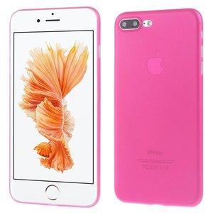 Ultradun Roze iPhone 7 plus TPu hoesje