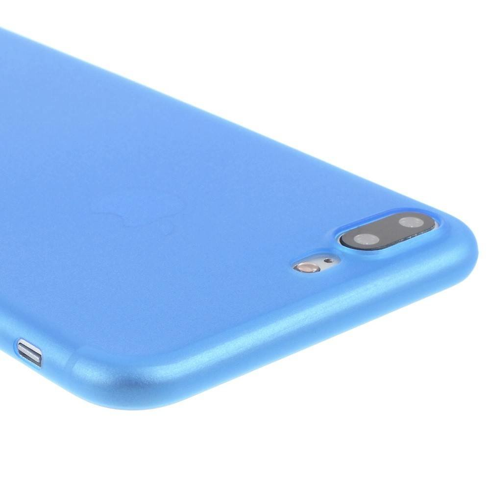 Ultradun Blauw iPhone 7 plus TPu hoesje