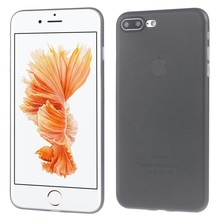 Ultradun zwart iPhone 7 plus TPu hoesje