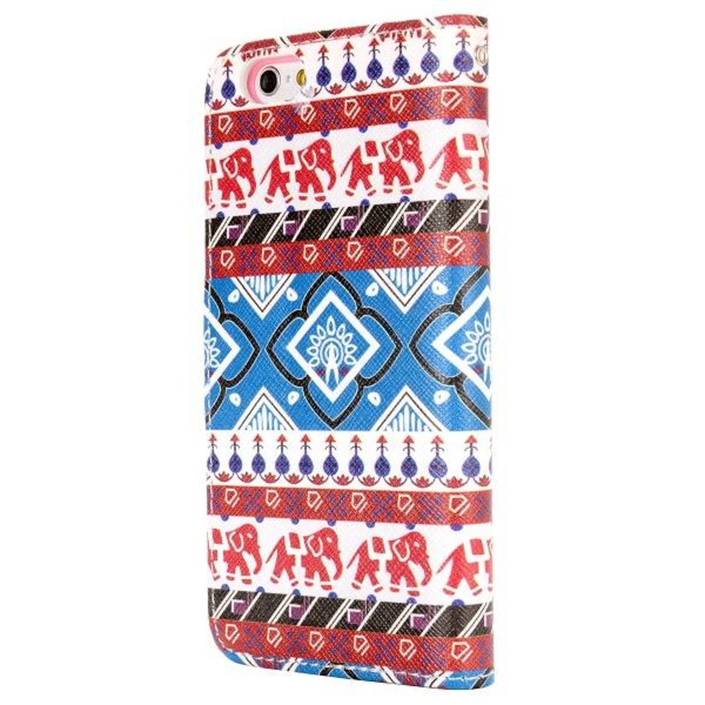 Tribal stijl iPhone 6 portemonnee hoes