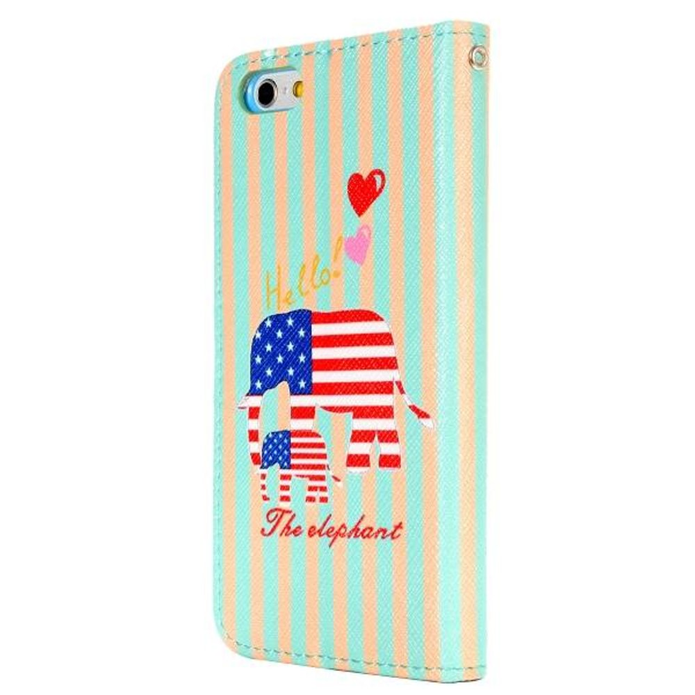 USA olifant iPhone 6 portemonnee hoes