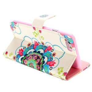 Bloemen tribal iPhone 6 portemonnee hoes