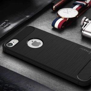 iPAKY Flexibel en stevig iPhone 7 plus TPu hoesje Donker blauw (bijna zwart)