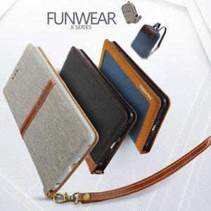 KLD - Kalaideng Funware collectie blauwe portemonee hoes, natuurlijke linnen en PU leer voor de iPhone 7 plus