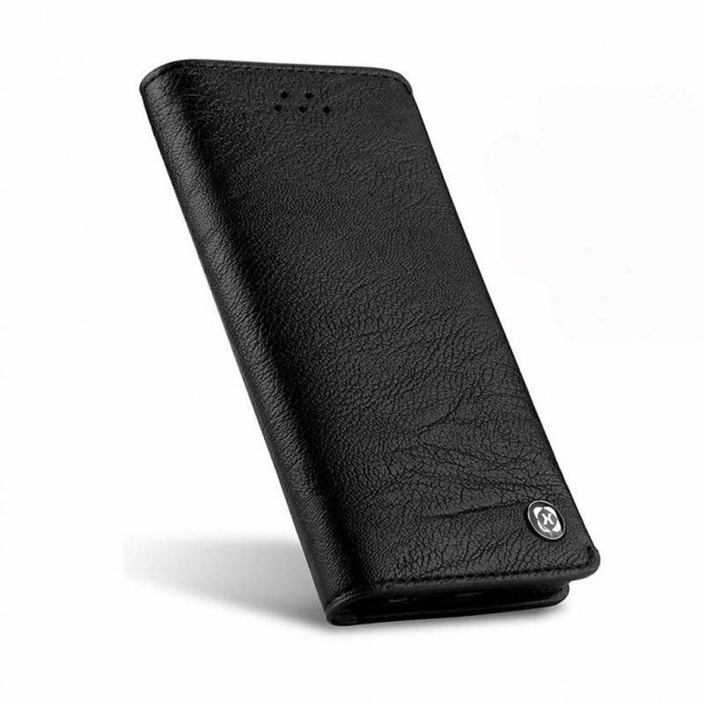 Xundd iPhone 7 portemonnee hoesje zwart leder uit de gentleman serie van Xundd