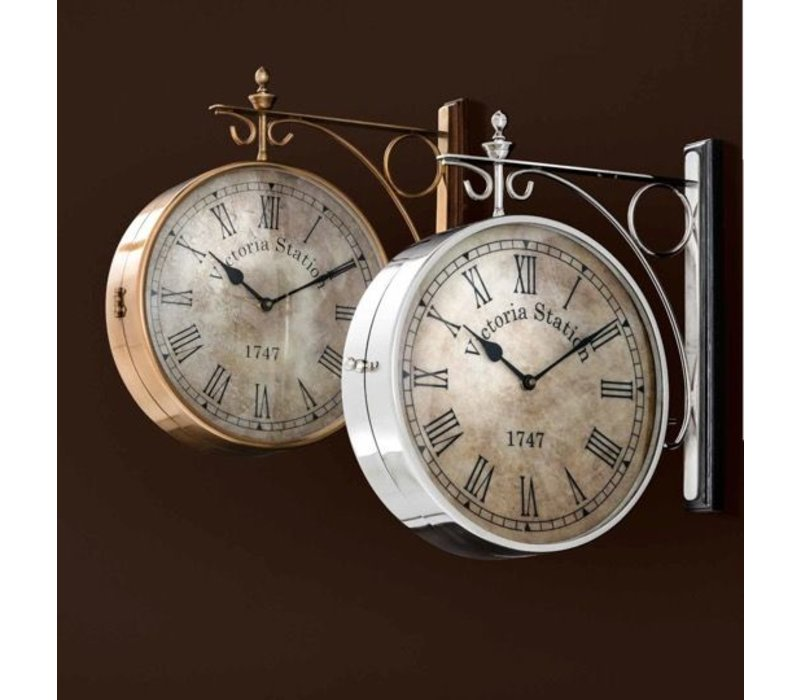 Station clock Victoria double-sided in classic style 39 cm