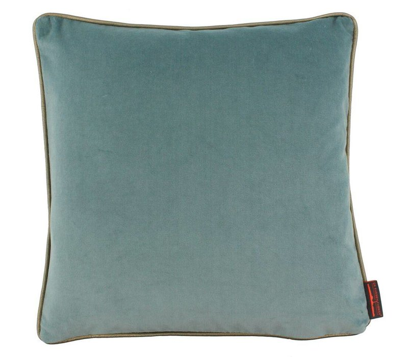 Cushion Saffi Iced Blue with Gold piping
