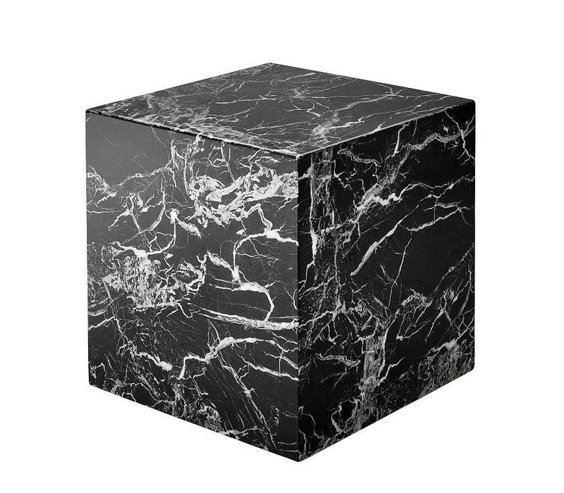 Marble side table 'Cube Link' 50 x 50 cm