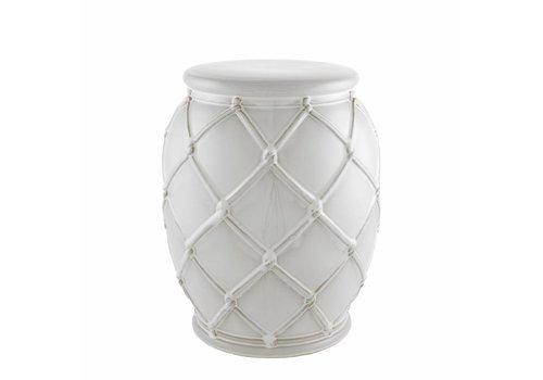 EICHHOLTZ Bijzettafel keramiek 'Drum Rope' white