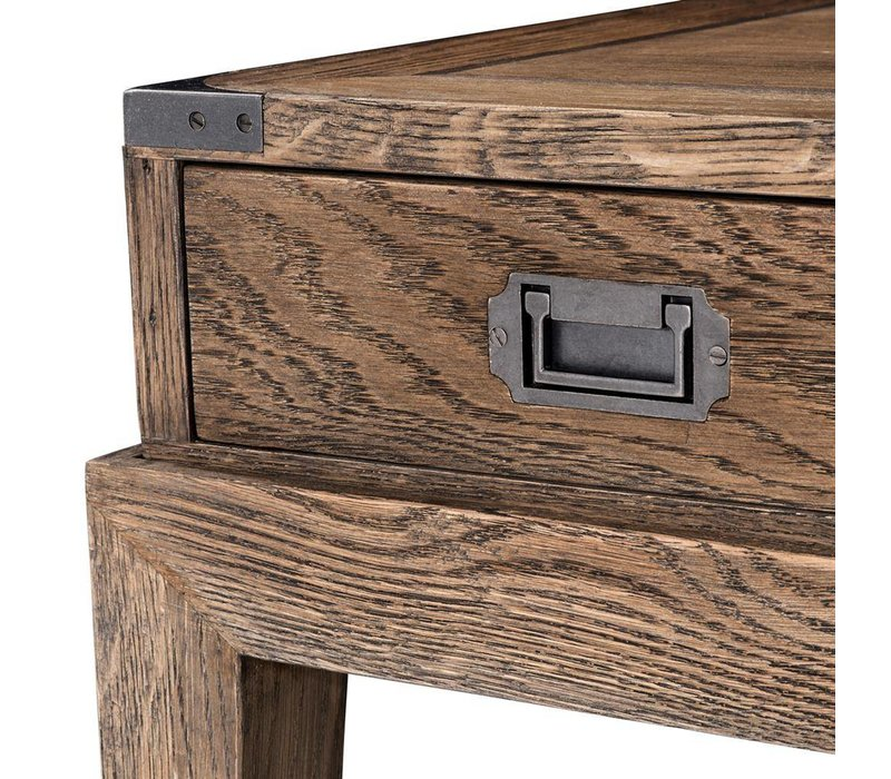 Military Oak side table 67.5 x 67.5 x H50 cm
