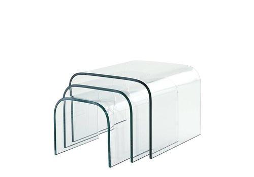EICHHOLTZ Glazen bijzettafels Reggiori