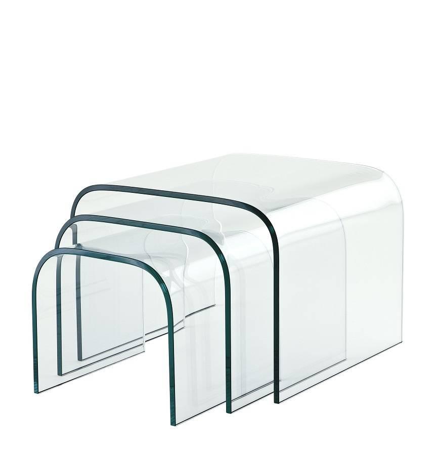 Set Van 3 Glazen Bijzettafels.Eichholtz Glazen Bijzettafels Reggiori Set Van 3
