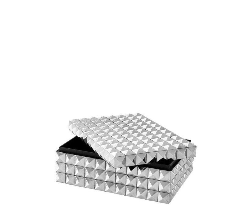 Luxe bewaardoos 'Viviënne' S maat: 29,5 x 22 x H. 11 cm