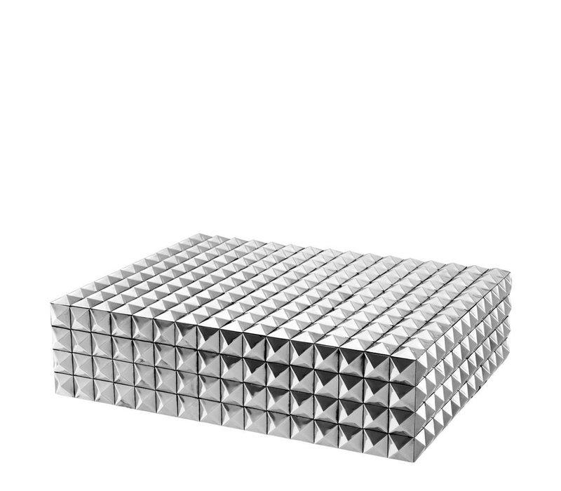 Luxe bewaardoos 'Viviënne' L maat: 42 x 32 x H. 11 cm