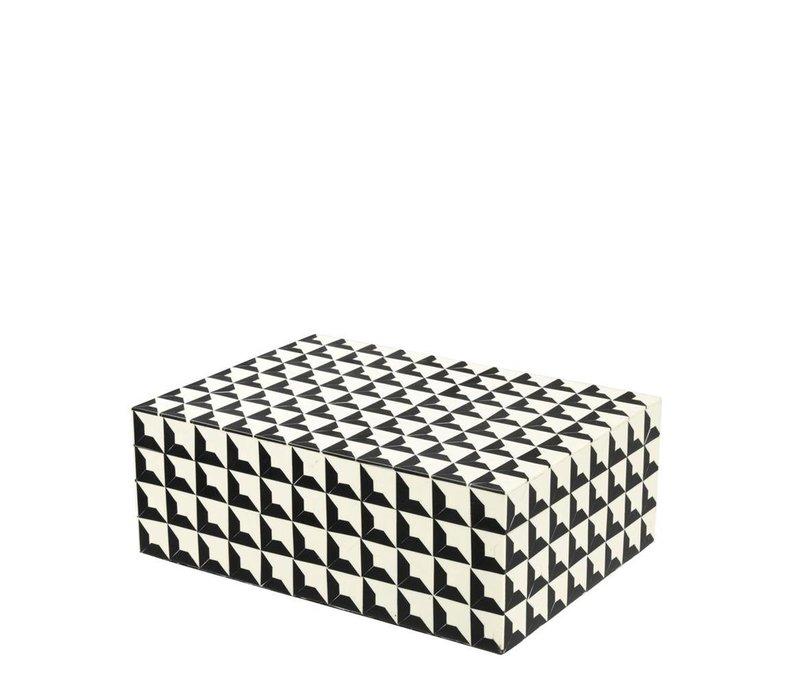 Luxus-Sammeldose 'Cabas' L Größe:28 x 21 x H. 10 cm