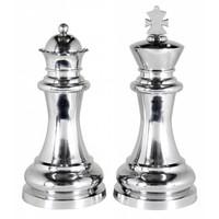 Decoratie set 'Chess King & Queen' bestaat uit 2 grote schaakstukken