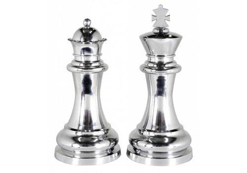 """EICHHOLTZ Dekorationsset """"Chess King & Queen"""""""