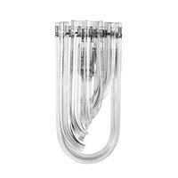 Wandlamp Greco van gebogen glas