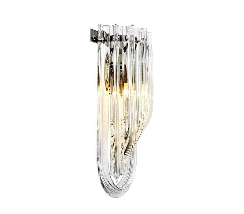 Wandlampe Greco aus gebogenem Glas