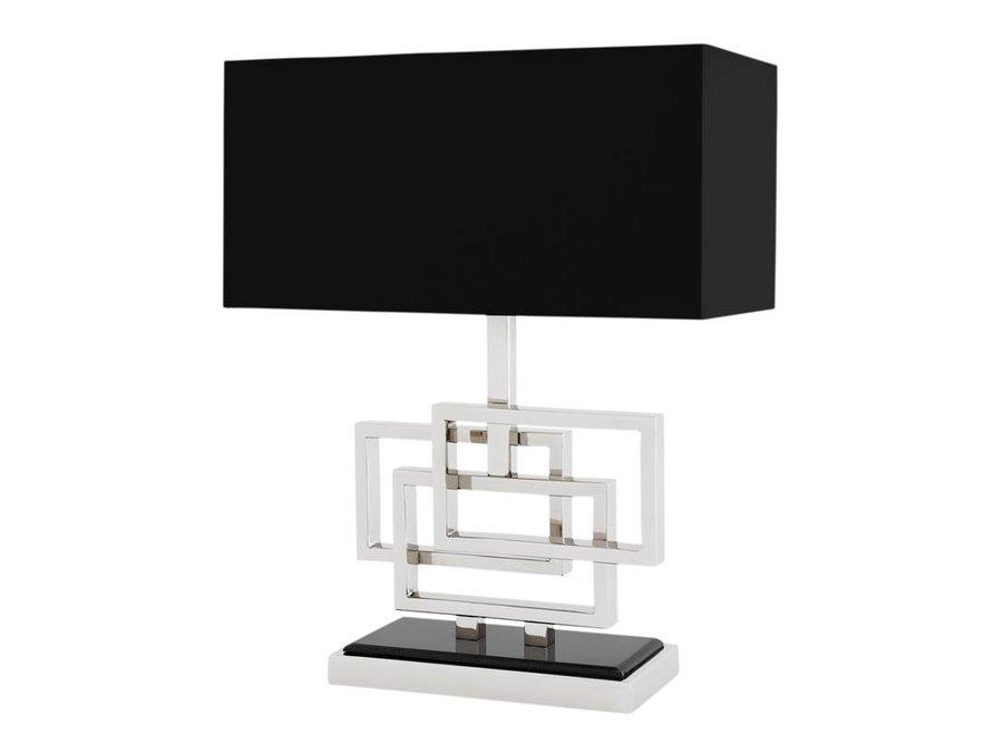 Tafellamp Windolf met zwarte kap, 48cm hoog