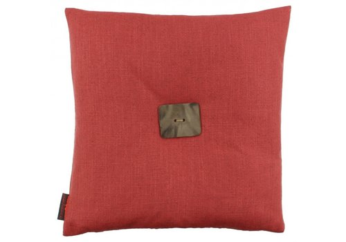 De Kussenfabriek Cushion Albert Raspberry + Leather