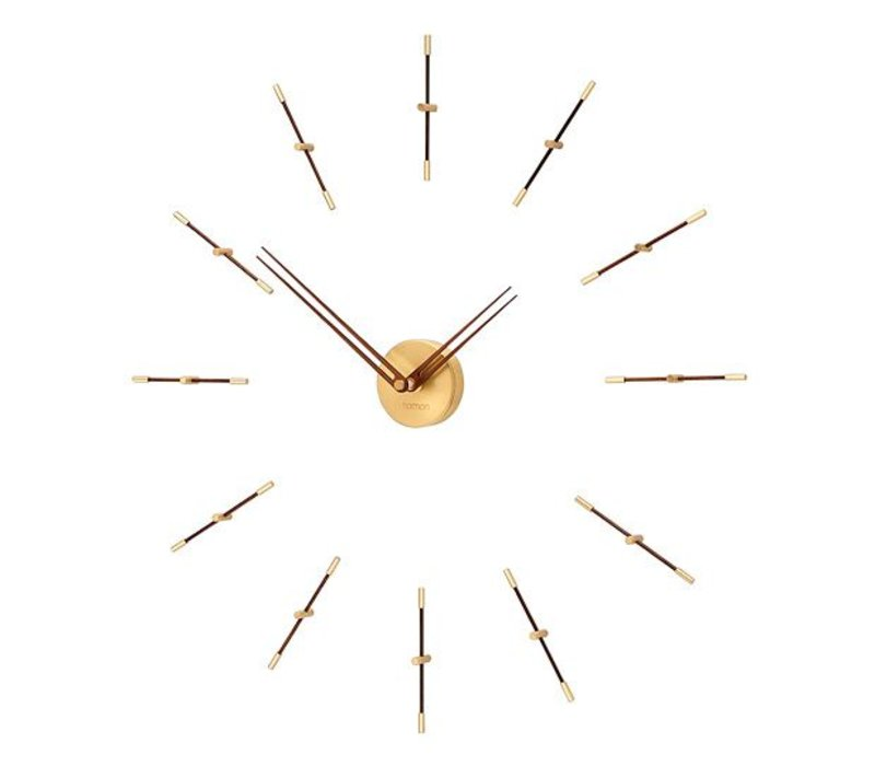 Mini Merlín Gold minimalistic large wall clock, 70cm.
