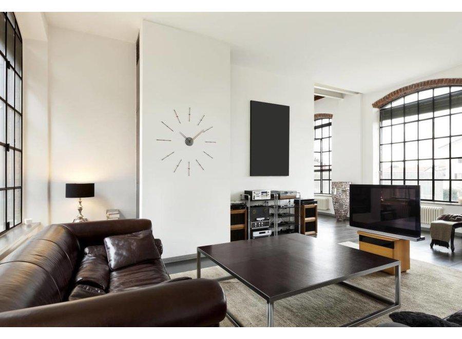 Mini Merlín Graphite minimalistic large wall clock, 70cm.