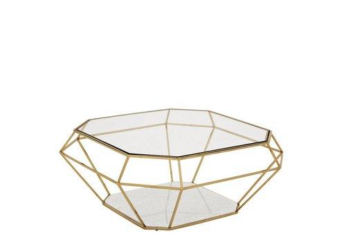 EICHHOLTZ Designer Coffee Table 'Asscher' Gold