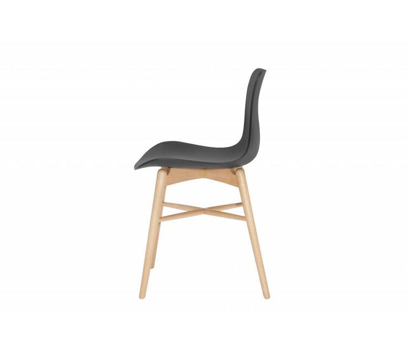 Design-Stuhl Langue Original Natural in der Farbe Anthracite Black