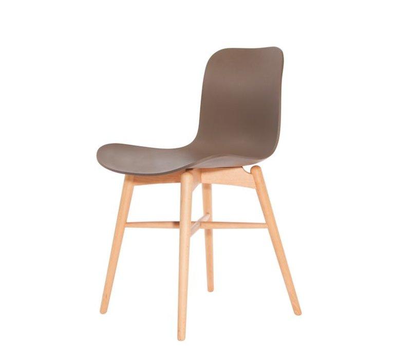 Design-Stuhl Langue Original Natural in der Farbe Gargoyle Brown