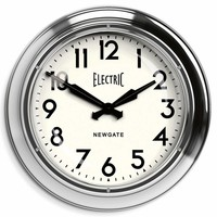 Wall clock 'The Giant Electric' color 'Chrome'